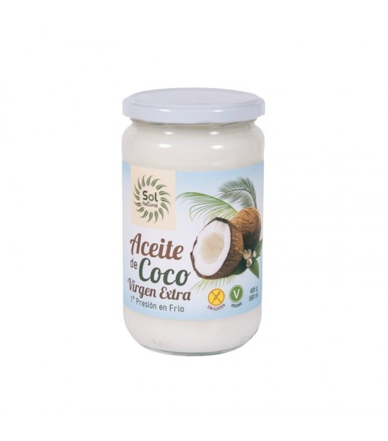 Aceite coco virgen extra SOL NATURAL 580 ml BIO