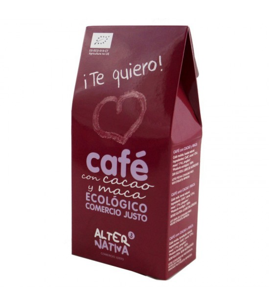 Cafe cacao maca molido ALTERNATIVA 3 125 gr BIO ¡Te quiero!