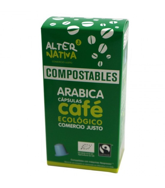 Cafe arabica ALTERNATIVA 3 (10 capsulas COMPOSTABLES) BIO