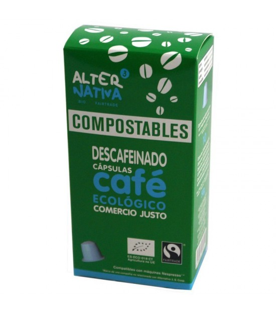 Cafe descafeinado ALTERNATIVA 3 (10 capsulas COMPOSTABLES) BIO
