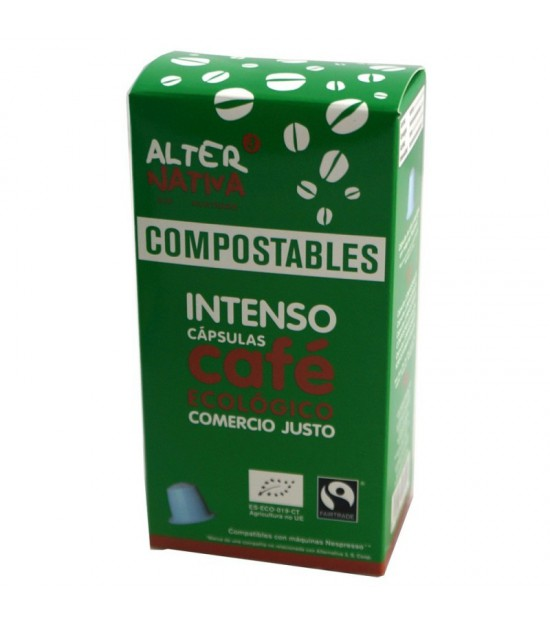 Cafe intenso ALTERNATIVA 3 (10 capsulas COMPOSTABLES) BIO