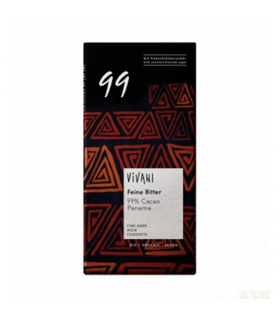Chocolate negro 99 % VIVANI 80 gr BIO