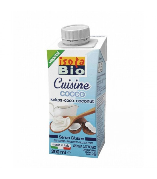 Crema para cocinar coco ISOLA BIO 200 ml