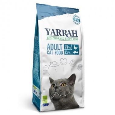 Pienso gatos pollo pescado YARRAH 2,4 kg