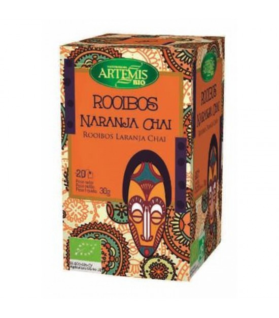 Infusion rooibos chai naranja (20 filtros) ARTEMIS 30 gr
