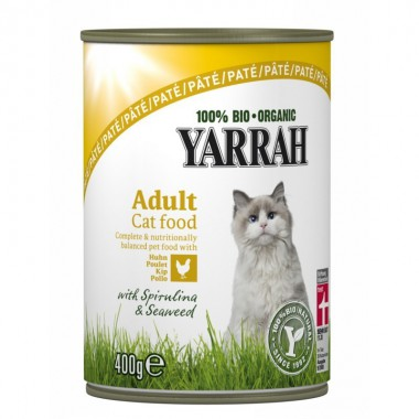 Lata gatos pollo YARRAH 400 gr
