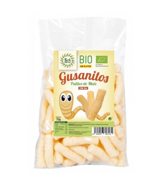 Gusanitos maiz sin gluten SOL NATURAL 70 gr BIO