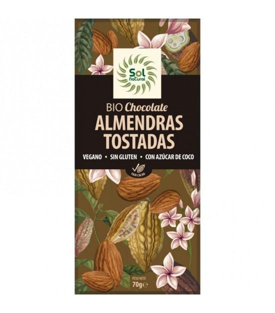 Chocolate almendras SOL NATURAL 70 gr BIO