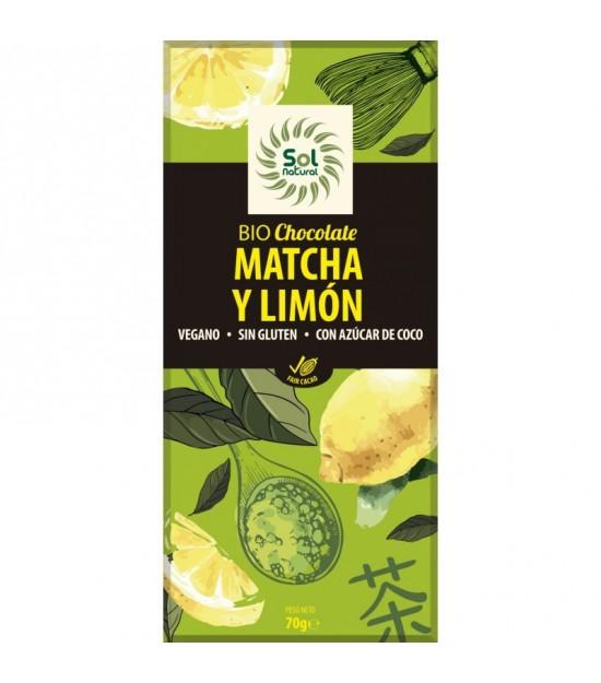 Chocolate matcha limon SOL NATURAL 70 gr BIO