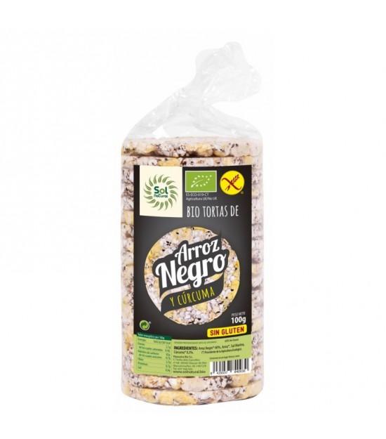 Tortas arroz negro curcuma SOL NATURAL 100 gr BIO