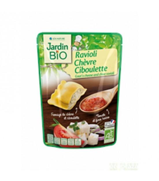 Plato preparado raviolis cabra cebollino JARDIN BIO 250 gr