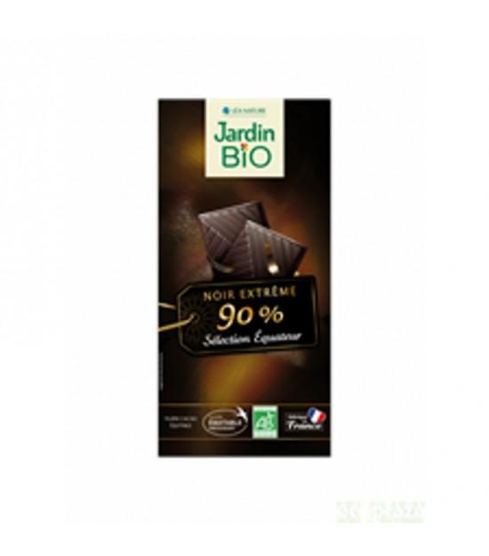 Chocolate negro 90% cacao JARDIN BIO 100 gr