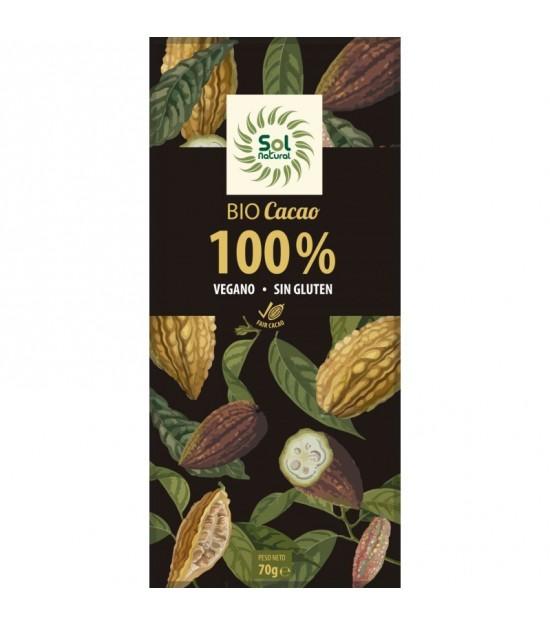 Chocolate 100% SOL NATURAL 70 gr BIO