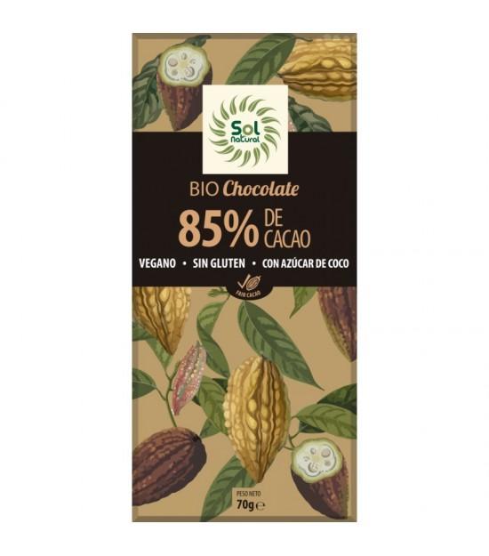 Chocolate 85% SOL NATURAL 70 gr BIO