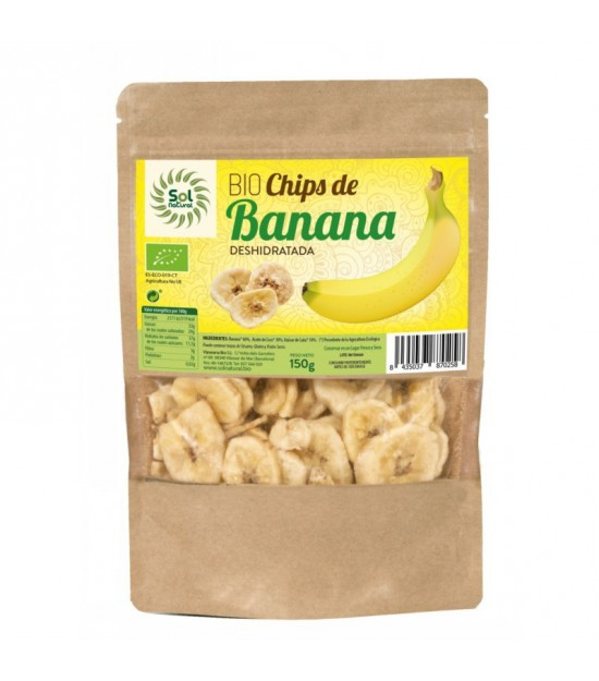 Chips banana SOL NATURAL 150 gr BIO