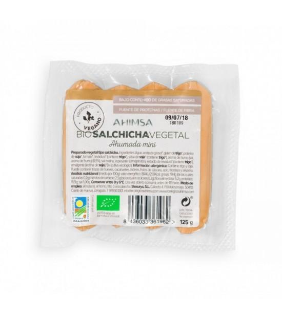 Mini salchicha ahumada AHIMSA 125 gr BIO
