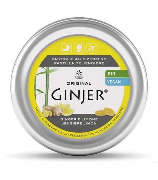 Ginjer pastillas lata sabor limon LEMON PHARMA 40 gr