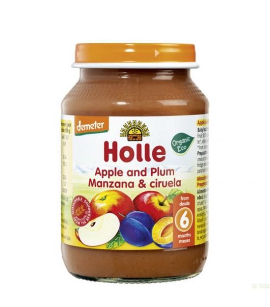 Potito manzana ciruela HOLLE 190 gr DEMETER ECO