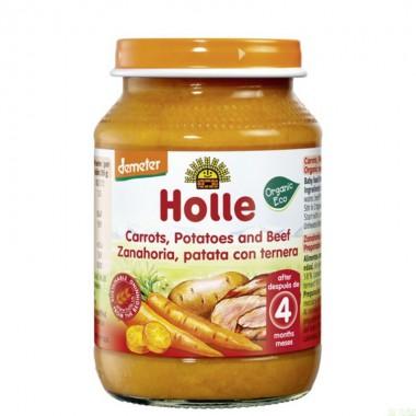 Potito zanahoria patata ternera HOLLE 190 gr DEMETER ECO