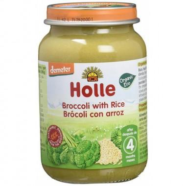 Potito brocoli arroz integral HOLLE 190 gr DEMETER ECO
