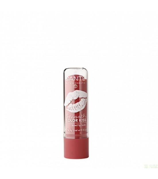 Balsamo labial color kiss 02 soft red SANTE