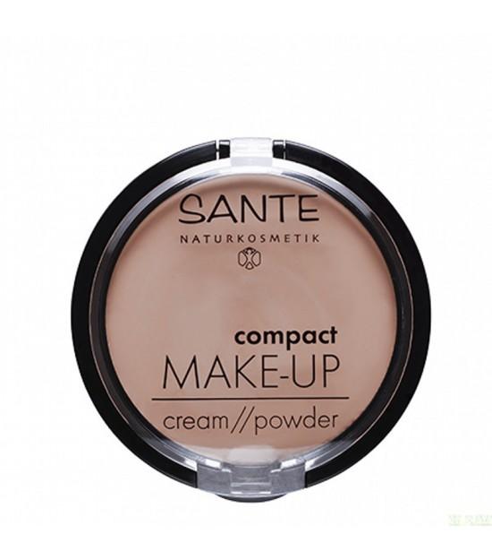 Maquillaje compacto polvo crema 02 sand SANTE