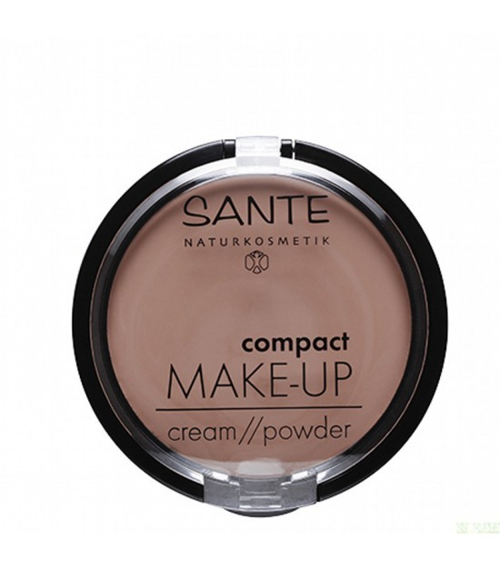 Maquillaje compacto polvo crema 03 golden SANTE