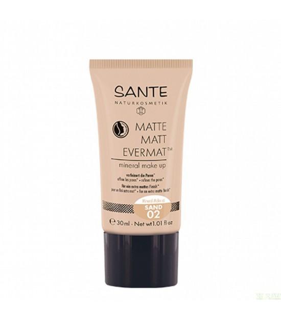 Maquillaje fluido evernat 02 sand SANTE