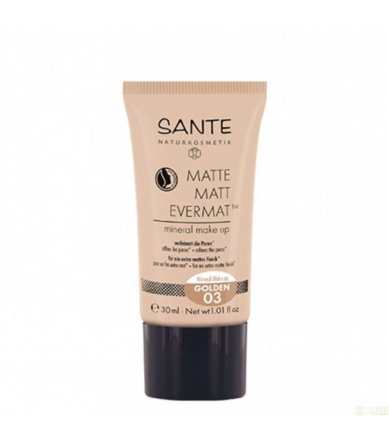 Maquillaje fluido evernat 03 golden SANTE