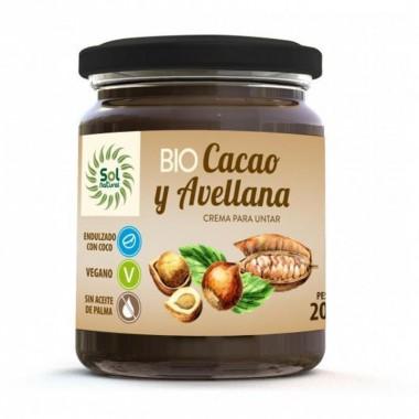 Crema cacao avellanas SOL NATURAL 200 gr BIO