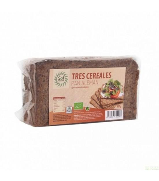 Pan aleman tres cereales SOL NATURAL 500 gr BIO