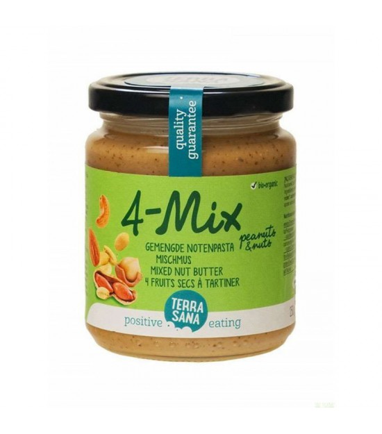 Crema frutos secos con cacahuete 4-Mix TERRASANA 250 gr BIO