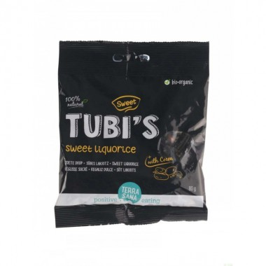 Regaliz dulce tubi's cacao TERRASANA 80 gr BIO