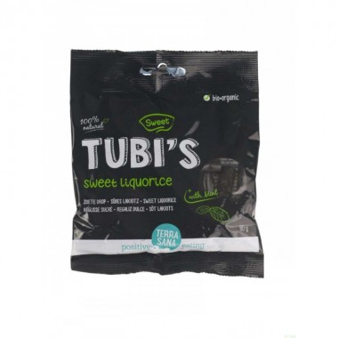 Regaliz dulce tubi's menta TERRASANA 80 gr BIO