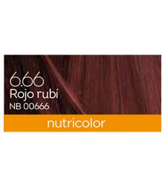 Tinte nutricolor rojo rubi 6.66 BIOKAP 140 ml BIO