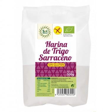 Harina trigo sarraceno sin gluten SOL NATURAL 500 gr BIO