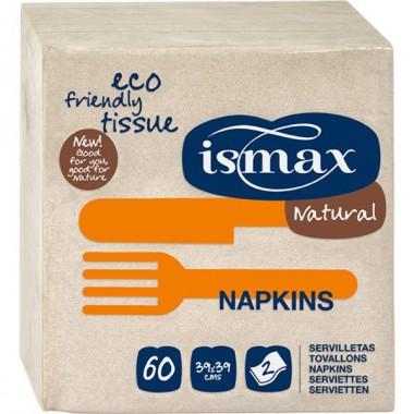 Servilleta papel doble capa 39x39 ISMAX 60 unidades
