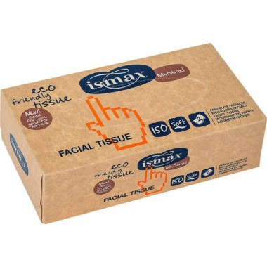Pañuelos faciales doble capa ISMAX 150 unidades