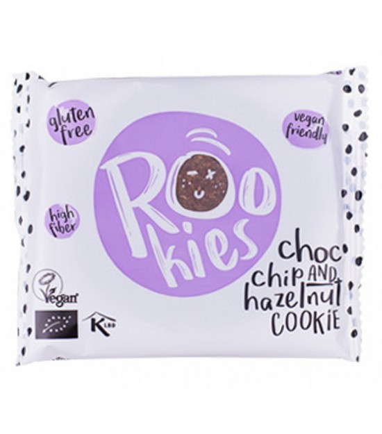 Galleta avellana chips chocolate ROOKIES 40 gr BIO