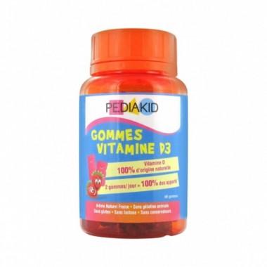 Gominolas vitamina D fresa PEDIAKID