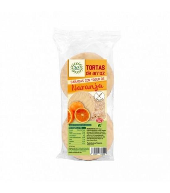 Tortas arroz yogur naranja SOL NATURAL 100 gr BIO