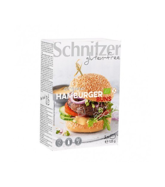 Pan hamburguesa sin gluten SCHNITZER 2X125 gr BIO