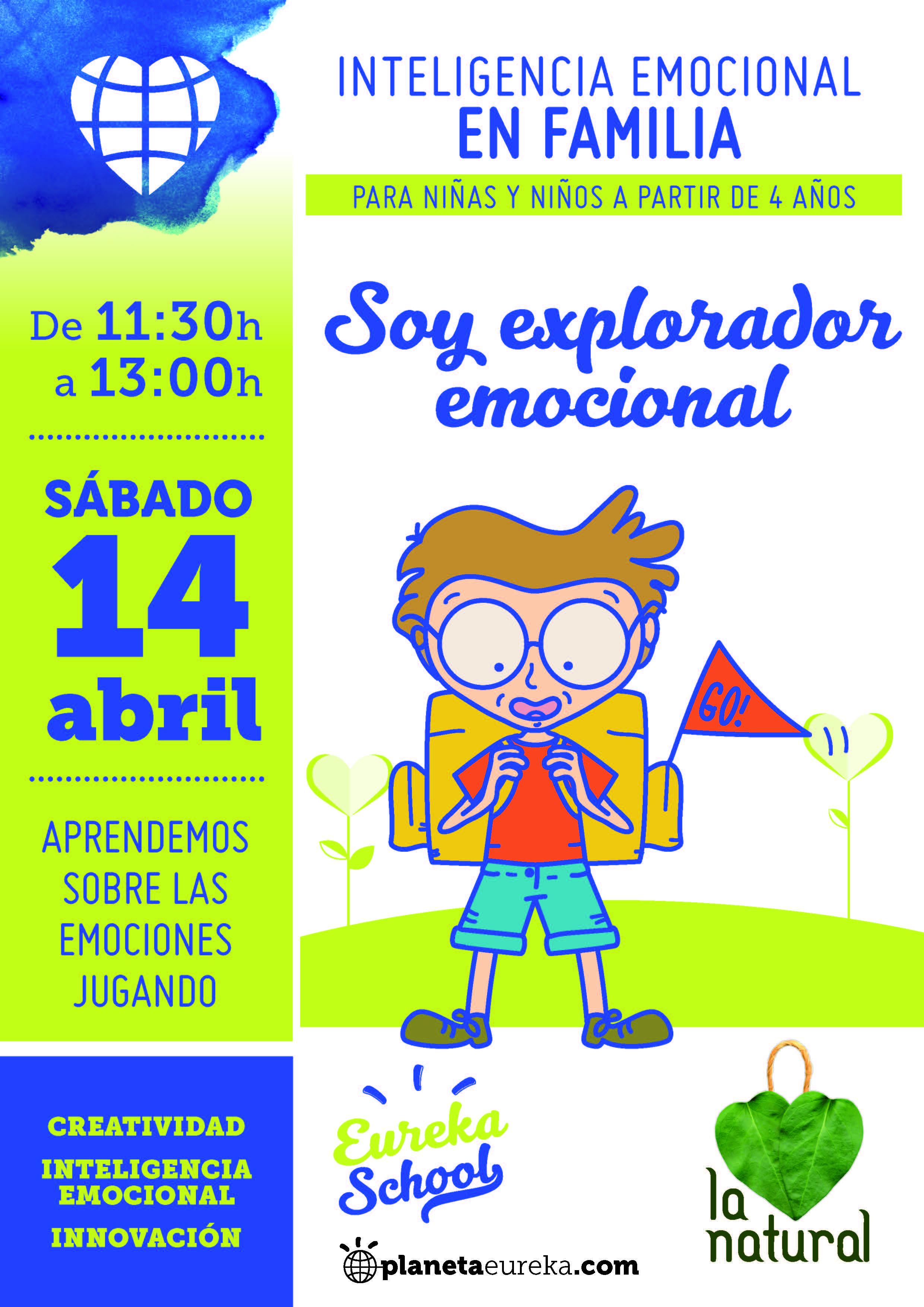 Cartel del taller de inteligencia emocional en familia